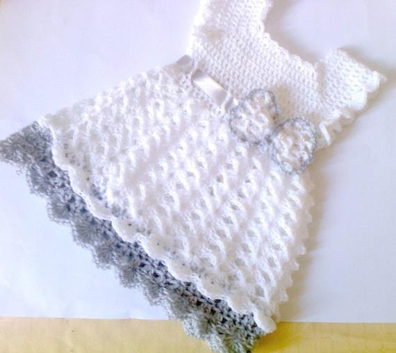 Häkeln Baby Kleid Weiße Baby Kleid Taufe Kleid Häkeln Baby Etsy