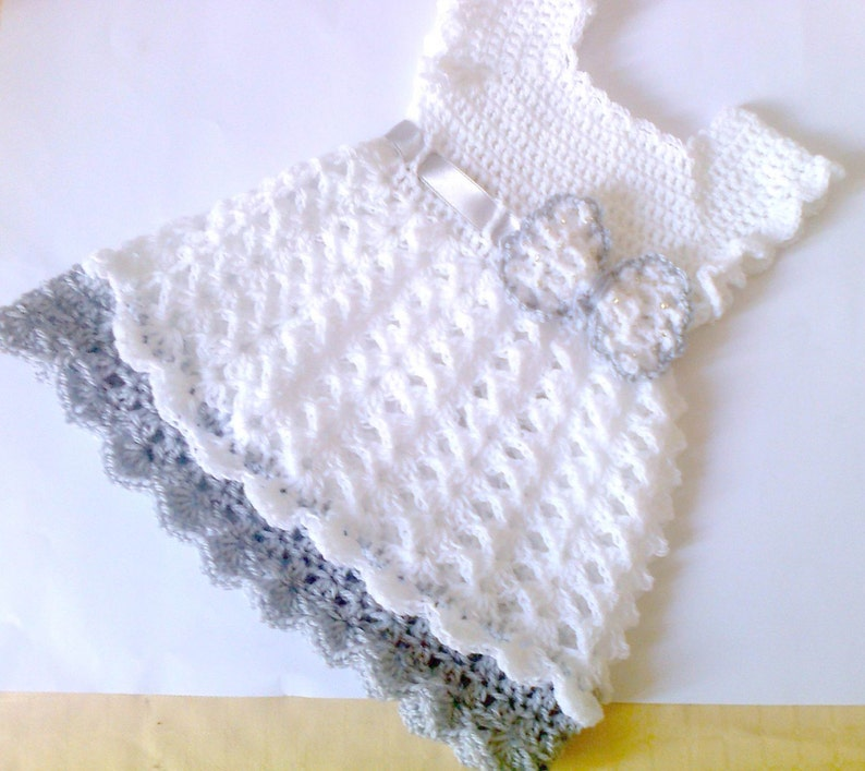 034bc873e9ddf Crochet baby dress,white baby dress, christening dress , crochet infant  outfit, crochet baby clothes, baby girl dresses, bow baby dress