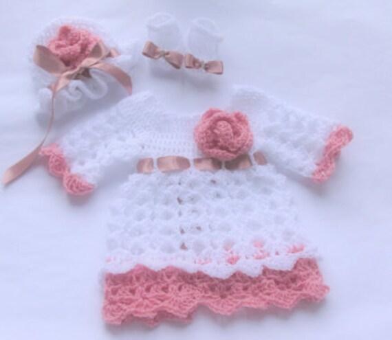 Häkeln Sie Baby Kleid Weiße Baby Kleid Baby Mädchen Kleid Etsy