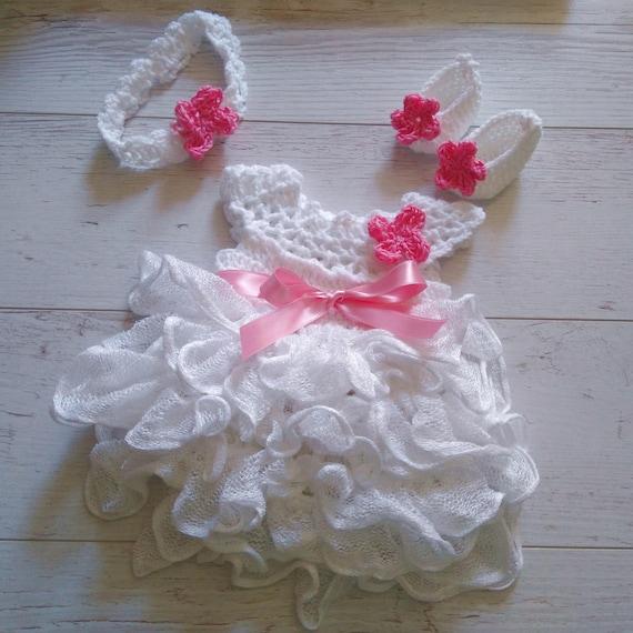 Recién nacido zapatos de bebé niña vestido venda casa traje en   Etsy