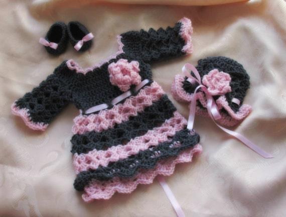Easy Baby Dress Pattern Baby Girl Dress Pattern Crochet Etsy