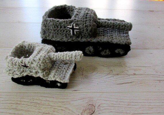 Gifts For Dads Crochet Tank Slippers Father Son Gift Dad Etsy