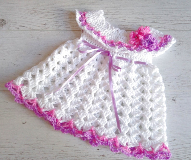 newborn dress baby girl dress crochet dress crochet newborn image 0