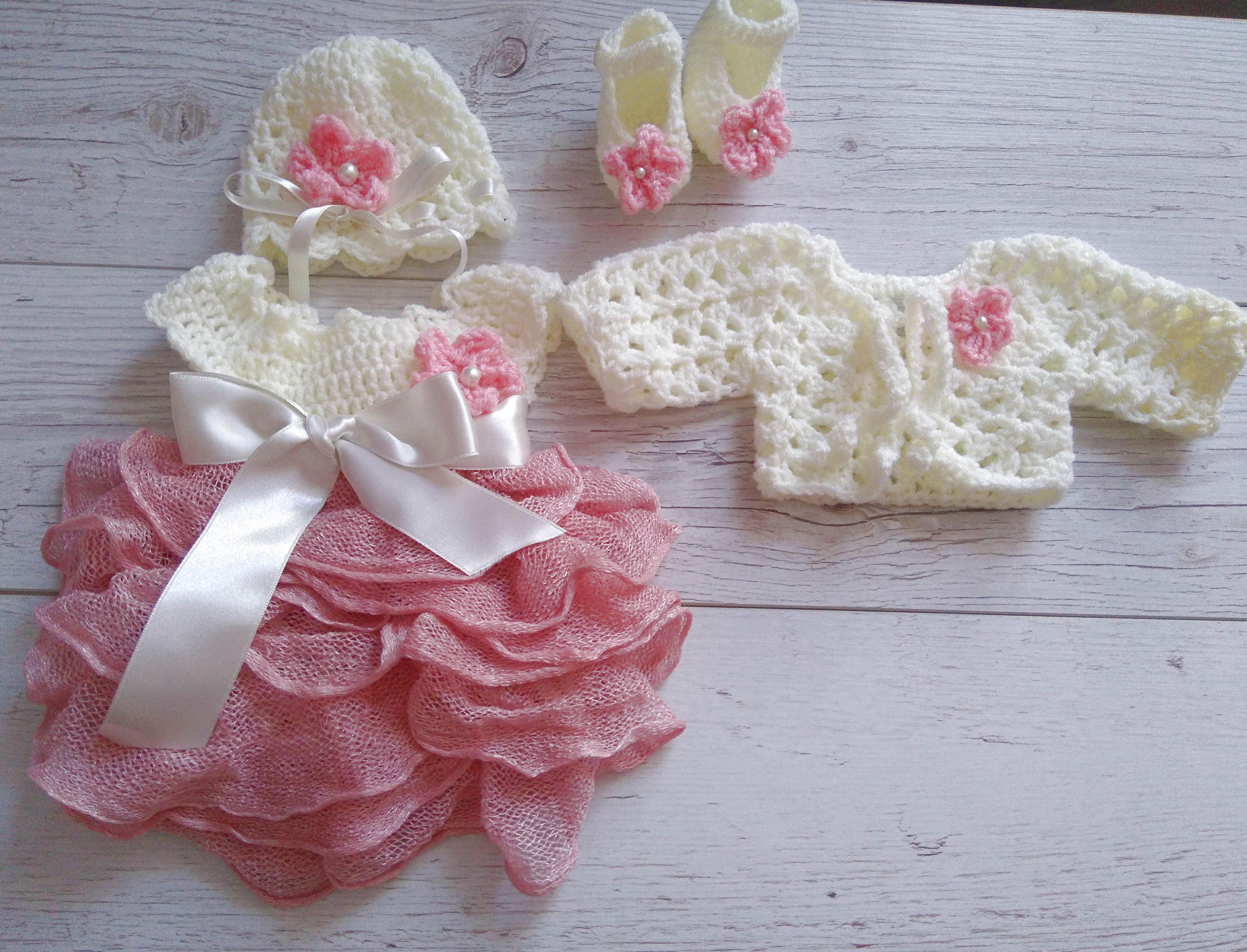 Tulle Baby Girl Dress Baby Girl Coming Home Outfit Baby Girl Etsy