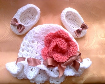 Instant download crochet Baby hat Pattern, Ballerina Shoes Crochet Pattern, easy Crochet Pattern, How to crochet baby hat