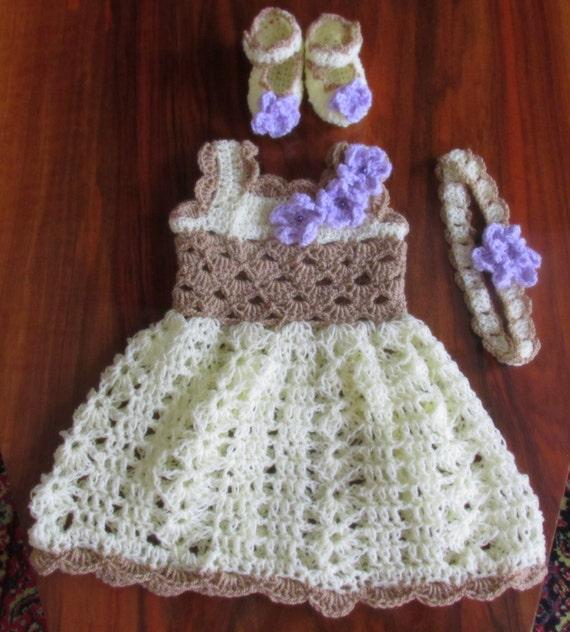 Crochet Pattern Girl Dress Pattern Shoes Hat Pattern Etsy