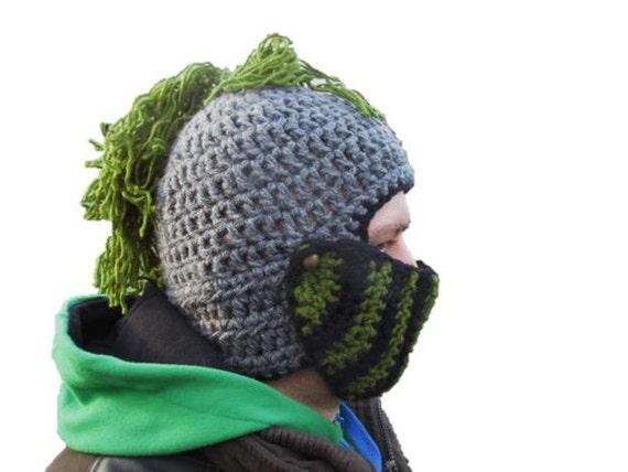 Mohawk Hut grüne Männer Hut Wintermütze häkeln Hut Ritter   Etsy