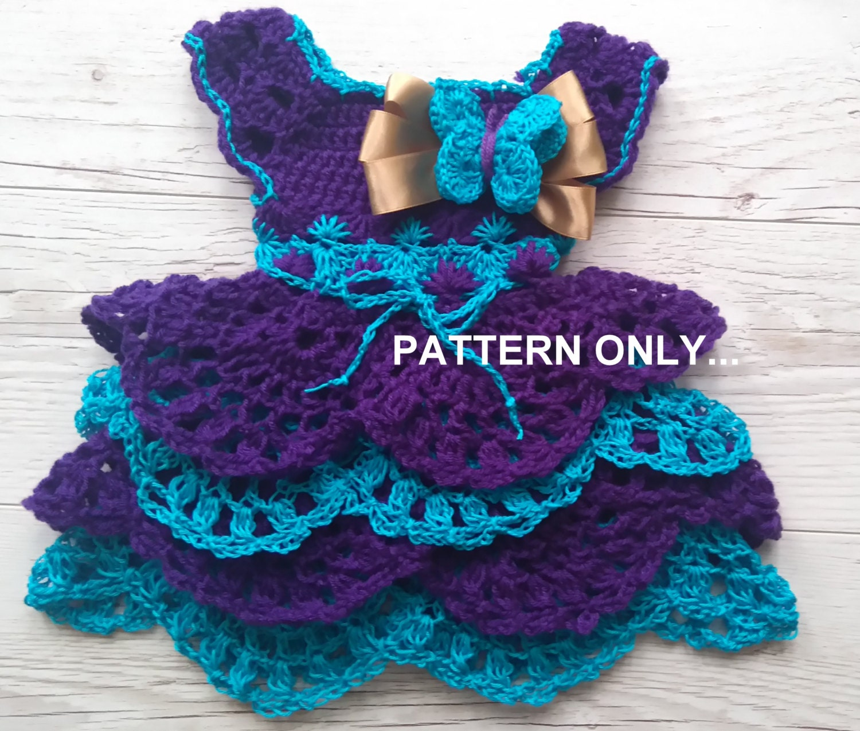 Crochet Baby Dress Pattern Crochet Baby Clothing Pattern Etsy
