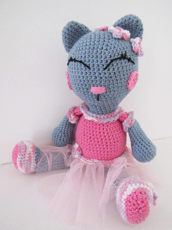 Stuffed Kitty Crochet Kitty Toy Kitty Stuffed Cat Etsy