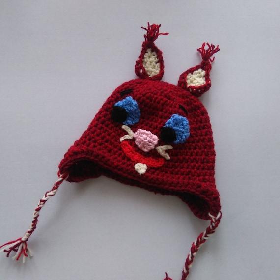 bdae1ced742 Squirrel hat crochet squirrel beanie animal hat crochet
