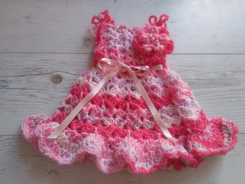 Pdf Crochet Pattern Baby Dress Digital Download Crochet Etsy