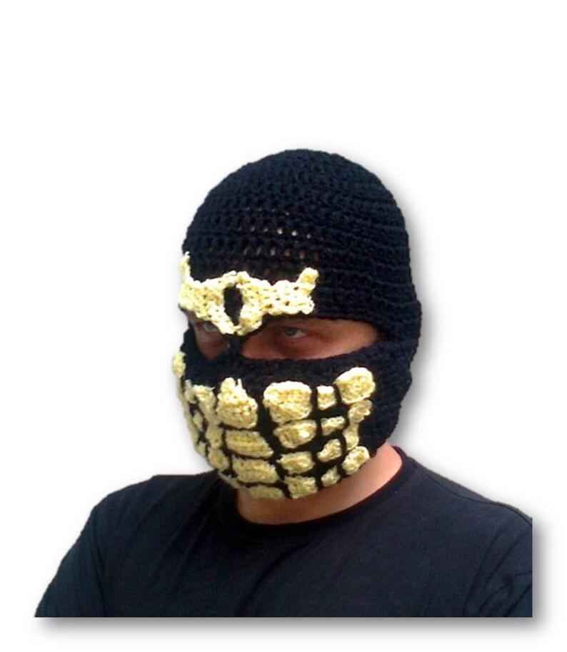 Mortal kombat Hat Scorpion Hat Scorpion Mask Scorpion  a7f5b4e617a