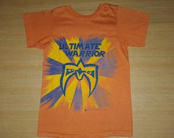 06fbfc862106 Vintage 1988 ULTIMATE WARRIOR Hulk Hogan Wrestling WWF promo Kids Size 80s  Rare T-shirt