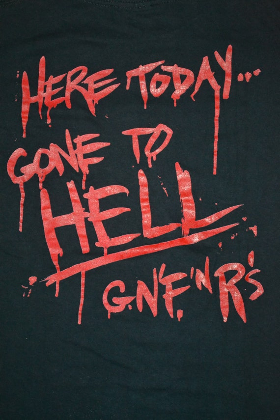 Gone rare Use Today shirt GUNS Vintage Hell Concert 1991 T Your Here to N ROSES Tour Illusion promo Gnr shirt wXHvHaqz