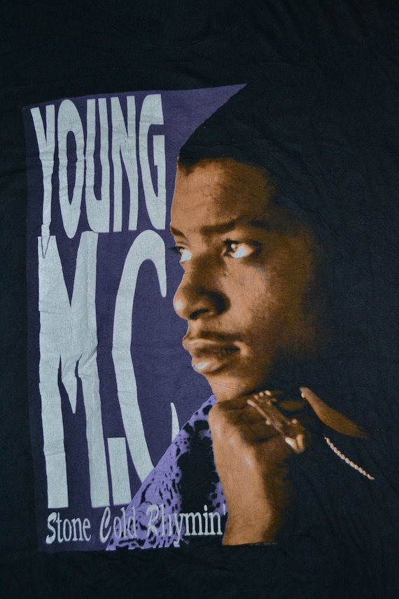 1990 Promo Rhymin shirt album MC Tour Concert Stone Cold YOUNG T Hip Vintage rare very Hop BdqSH1wv1x