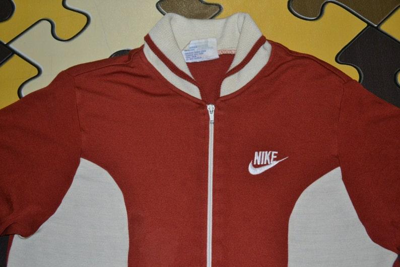 443c7f3d1520 Vintage 70s 80s NIKE Orange Tag Maroon White M Size Track