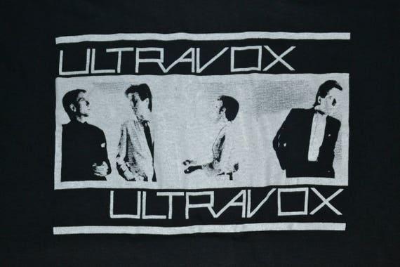 Tour Vienna Concert Vintage 1980 Wave shirt T Promo Chrysalis Records ULTRAVOX super album rare New xfAqwf0
