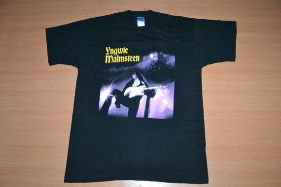 T Vintage rare Concert Japan promo Opus MALMSTEEN Tour 1995 YNGWIE Magnum shirt 1wa1vOq