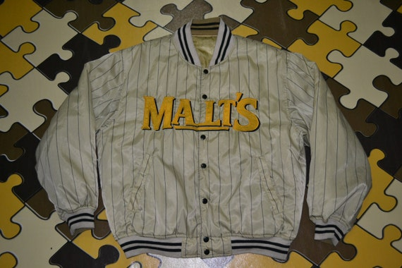 MALT'S Starter side Vintage 90s 80s BEER 2 Satin Nfl Jacket Reversible qEx6xF7