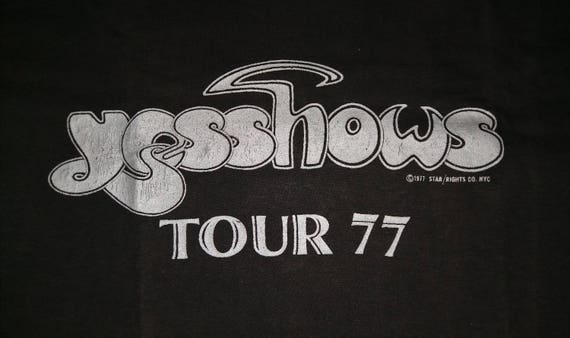 Tour shirt For promo The T One Shows YES Going Vintage 1977 Concert 0HUq77