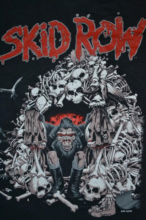 Tour Concert Slave the to T shirt Grind 1991 SKID album Vintage rare Promo ROW 80s 4x80Hnq