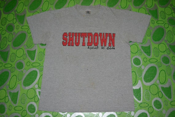 rare 90s Against T Concert Tour Vintage SHUTDOWN Odds 80s shirt promo All 8AdwdZq