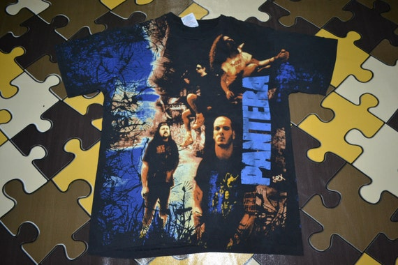 of Tour full Vulgar over Vintage Promo Display Power shirt 1993 PANTERA Concert rare all print T wp1qxAI