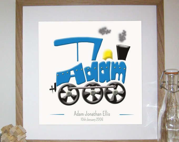 Personalised Train Print