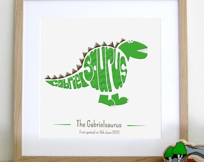 Personalised Stegosaurus Print