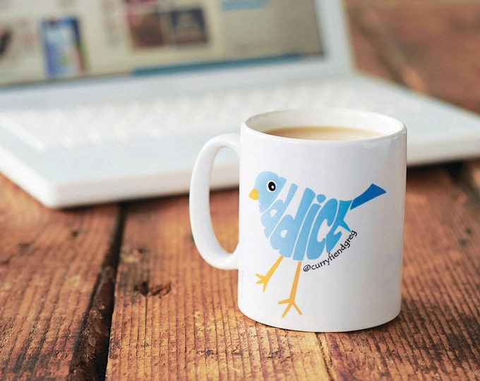 Twitter mug| Social Media Gift| Social Media| twitter| teenager twitter gift| tweet mug| twitter name| facebook| facebook gift| address
