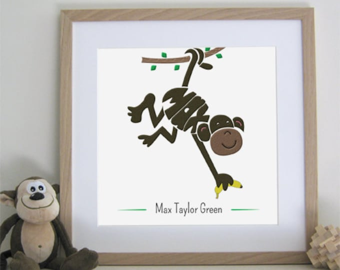 Cheeky Monkey Print - Personalised