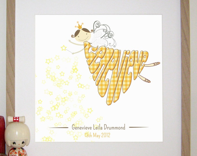 Personalised Golden Fairy Print