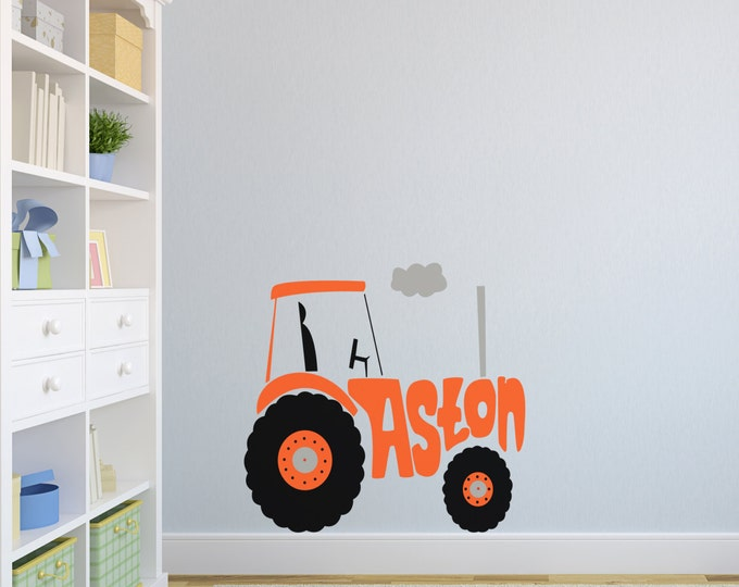 Personalised Tractor Wall Stickers