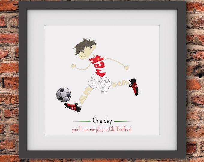Personalised Soccer/Footballer Print