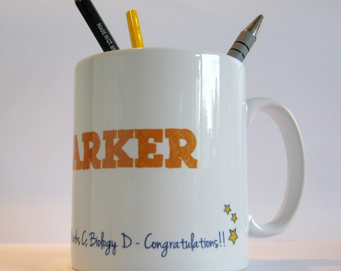 Personalised Exam Congratulations Mug
