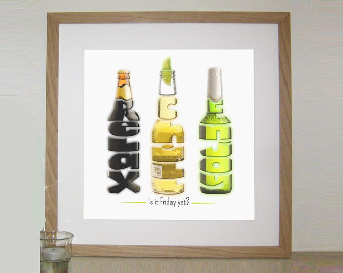 A Personalised Word Art Beer Print
