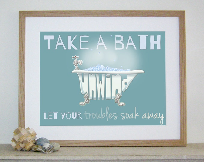 Relaxing Bath Print