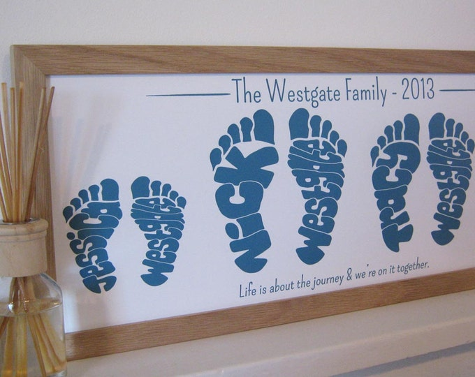 Small Personalised Family Footprint