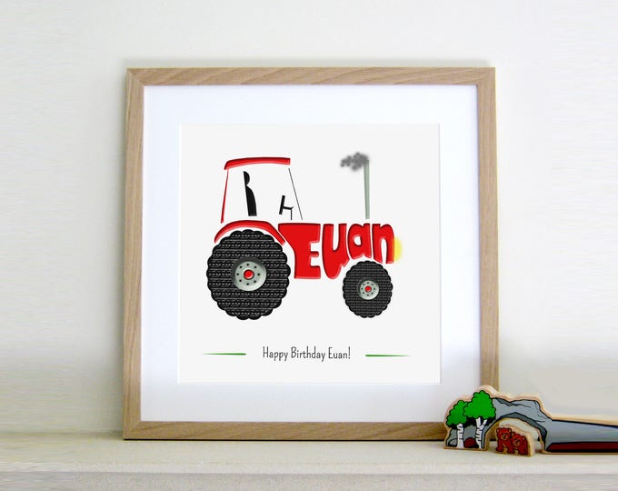 Personalised Tractor Print