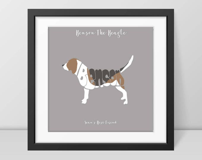 Personalised Beagle Picture