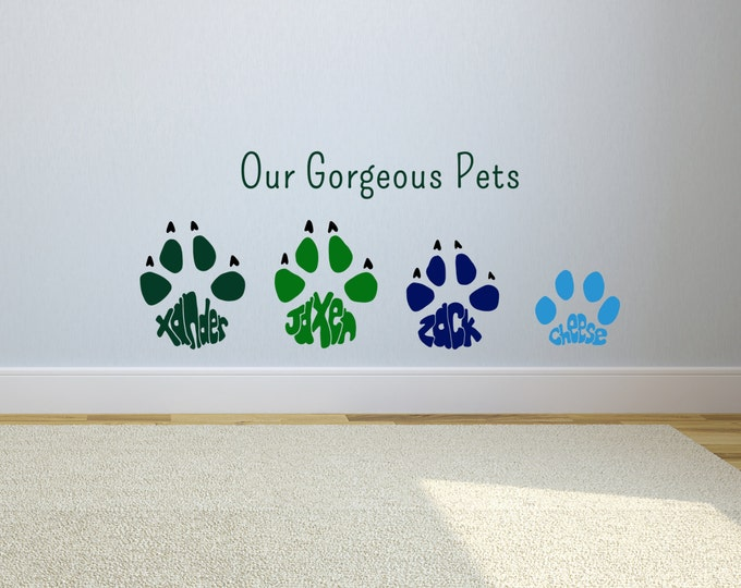 Paw Print Wall Stickers