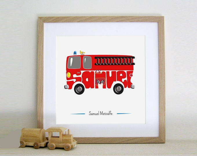 Personalised Firefighter Print