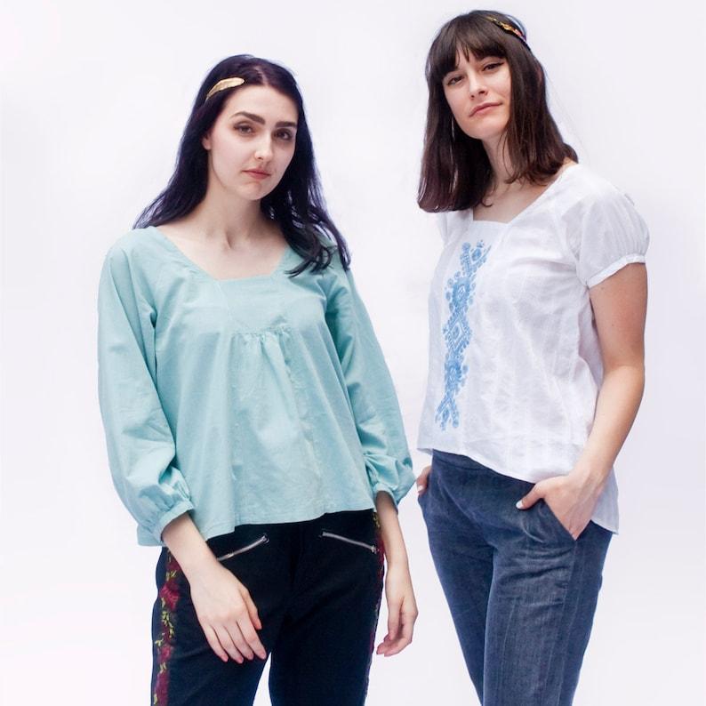 Roza Blouse and Dress PDF sewing pattern image 0