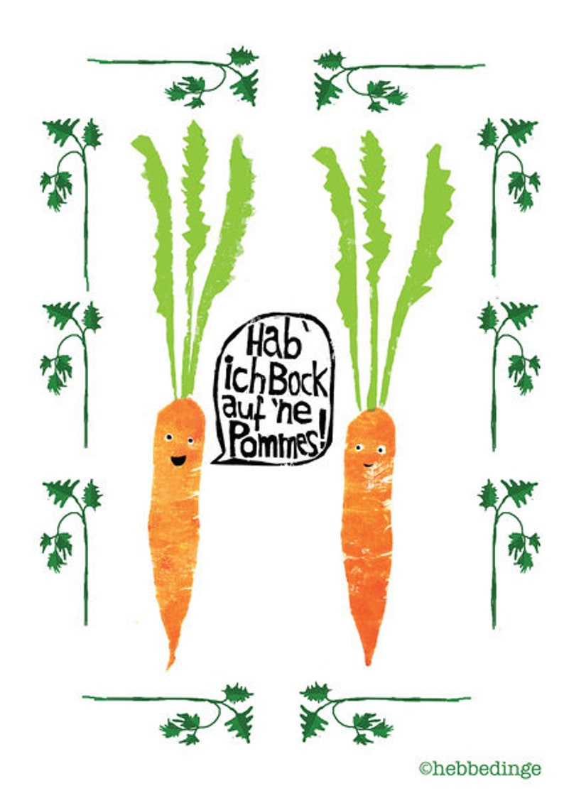 Poster Din A4-Carrots and fries image 0