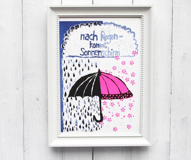 Riso Print Umbrella Parasol DinA4 image 0