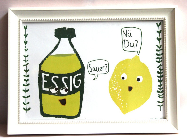 Poster Din A4-Lemon and vinegar are not sour image 0