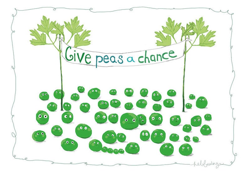 Peas for Peace Poster DinA4 peas for peace image 0