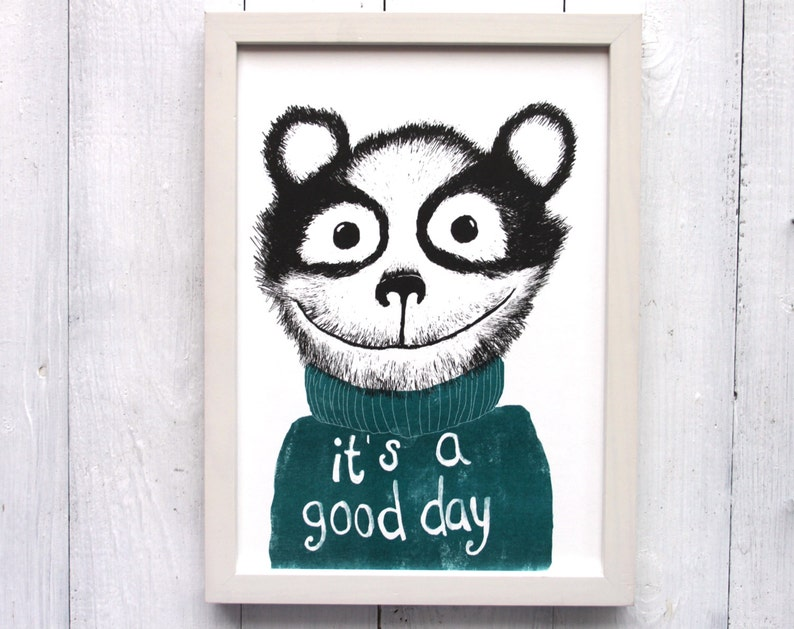 today is a good day riso print illustration kids yoga studio image 0