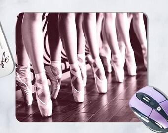 mouse pad, mousepad, ballet slippers, En pointe, ballerina, ballet dancer, pointe shoes, pink ballet, office, back to school, desk, coaster