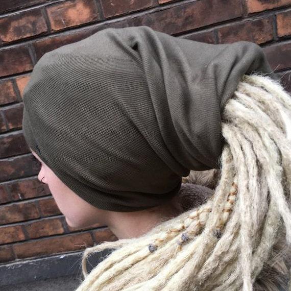 Dreadlock tubo sombrero venda dreads rasta turbante gorro invierno esquí  caqui f10459481df